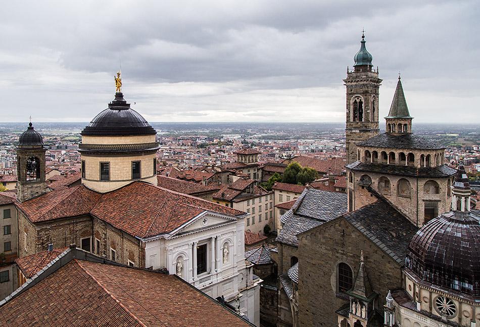 Fabian Fröhlich, Bergamo, Città Alta, View from Campanone