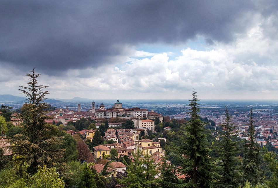 Fabian Fröhlich, Bergamo, Città Alta,View from Castello di San Vigilio