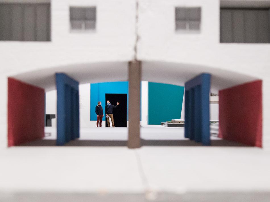 Fabian Fröhlich, Berlinische Galerie, Ausstellung Anything Goes? Berliner Architekturen der 1980er Jahre; Wohnanlage Konzepta, Ritterstraße