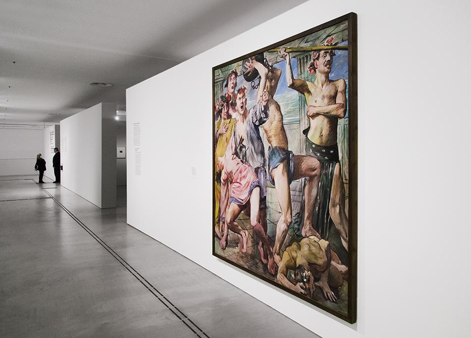 Fabian Fröhlich, Berlinische Galerie, Die Freier im Kampf gegen OdysseusAus dem elfteiligen Katzenellenbogen-Zyklus