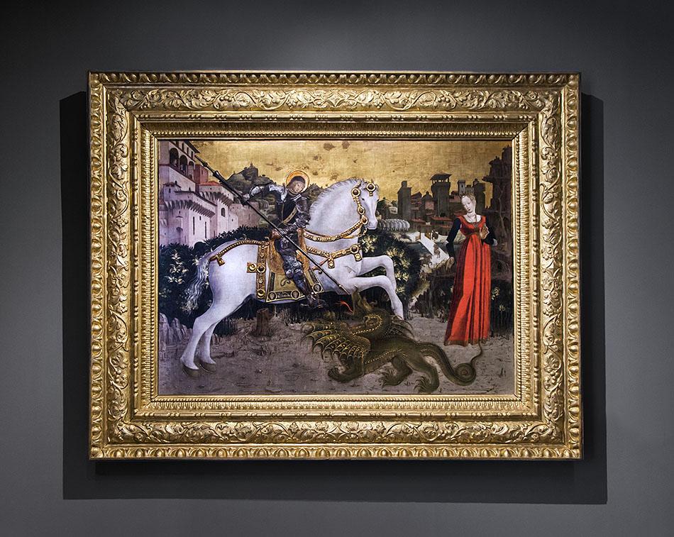 Fabian Fröhlich, Brescia, Pinacoteca Tosio Martinengo, Antonio Cicognara, Saint George and the Dragon