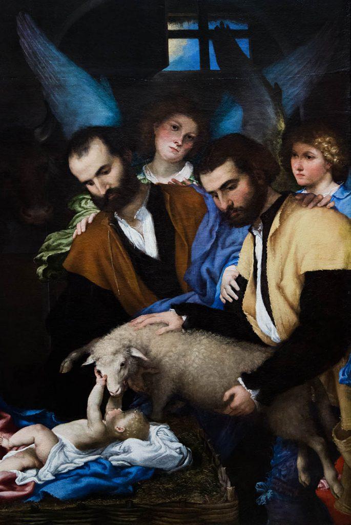 Fabian Fröhlich, Brescia, Pinacoteca Tosio Martinengo, Lorenzo Lotto, Die Anbetung der Könige