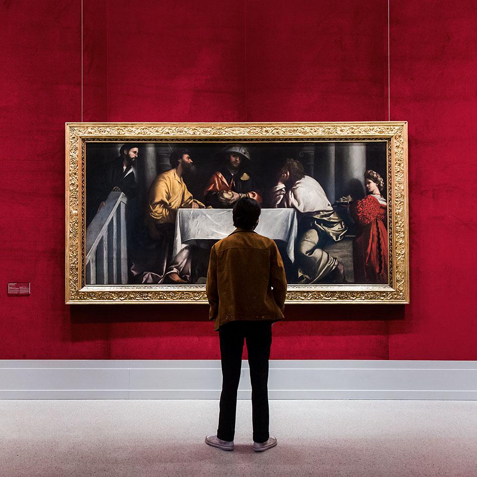 Fabian Fröhlich, Brescia, Pinacoteca Tosio Martinengo, Alessandro Moretto, The Supper of Emmaus
