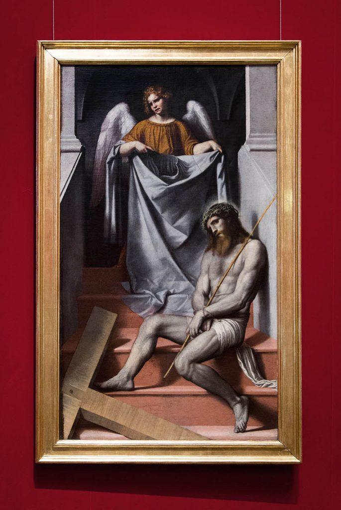 Fabian Fröhlich, Brescia, Pinacoteca Tosio Martinengo, Alessandro Moretto, Passion Christi mit Engel