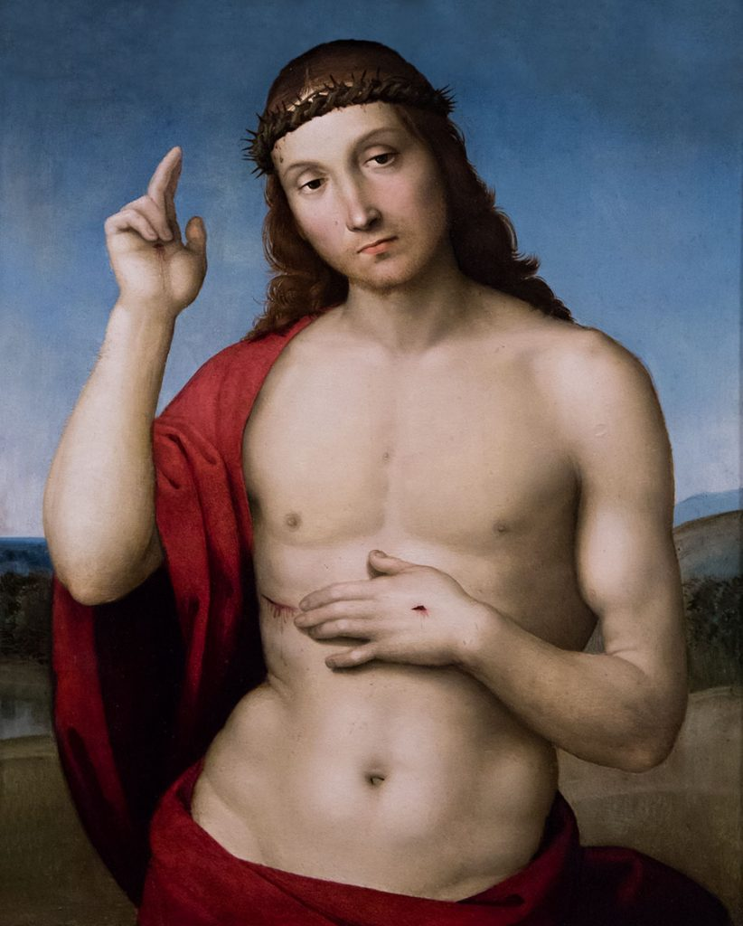 Fabian Fröhlich, Brescia, Pinacoteca Tosio Martinengo, Raffaelo, Cristo benecidente