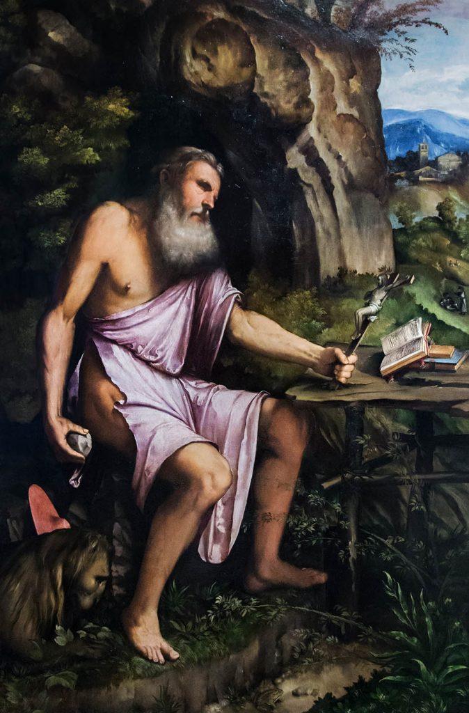 Fabian Fröhlich, Brescia, Pinacoteca Tosio Martinengo, Romanino, Hl Hieronymus