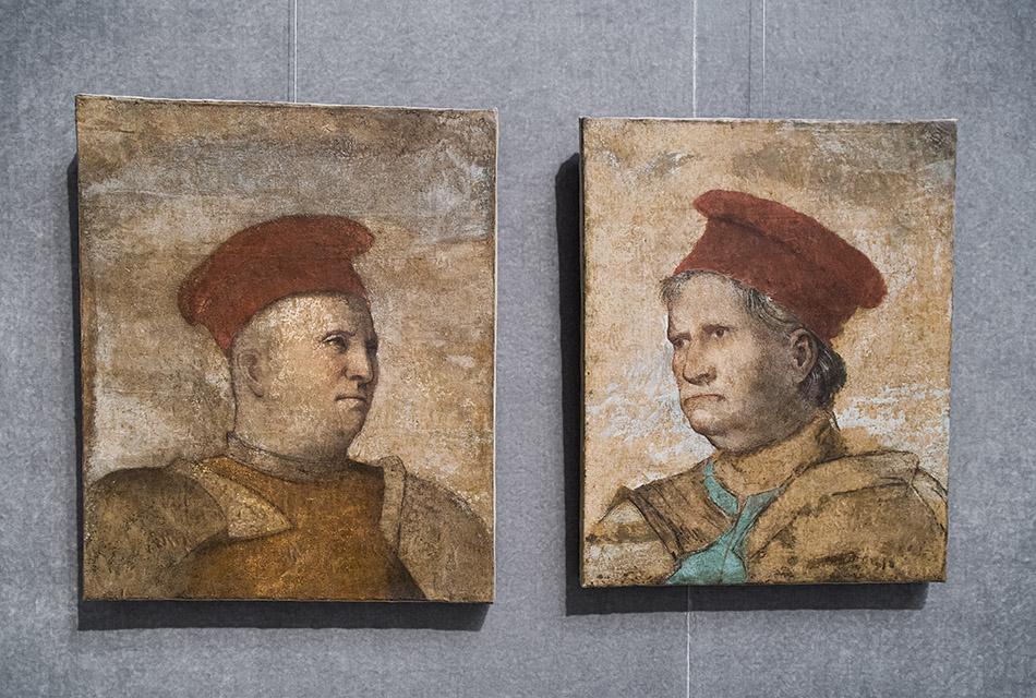 Fabian Fröhlich, Brescia, Pinacoteca Tosio Martinengo, Romanino, Portraits of Niccolò and Napoleone Orsini