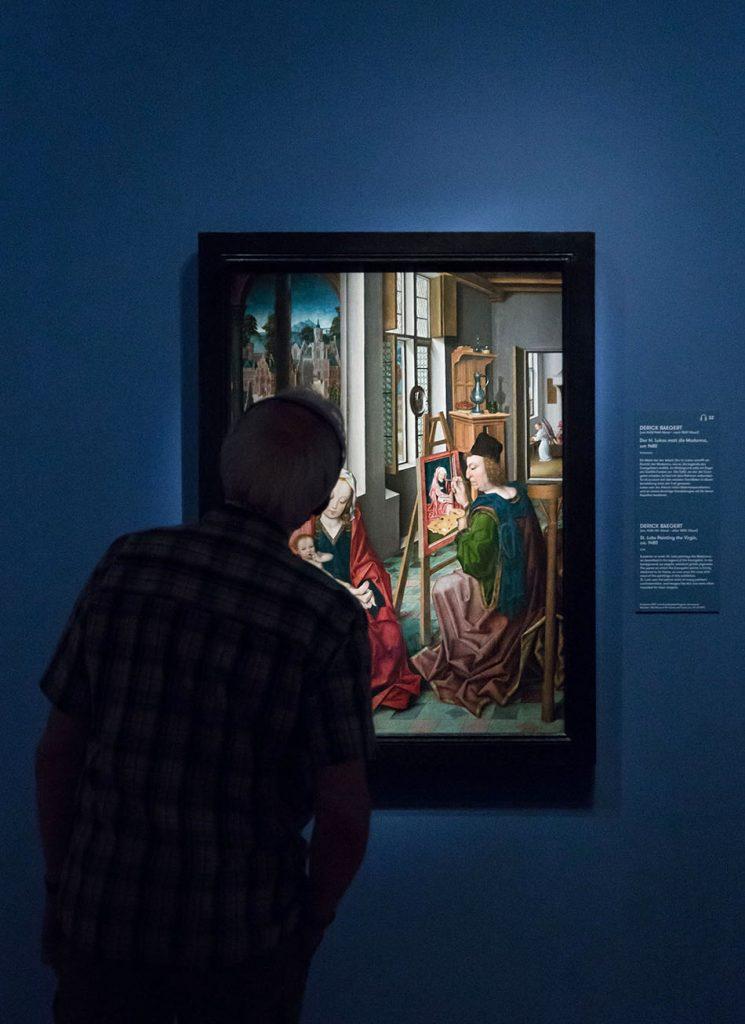 Fabian Fröhlich, Ausstellung Spätgotik, Gemäldegalerie Berlin, Derick Baegert, Der heilige Lukas malt die Madonna