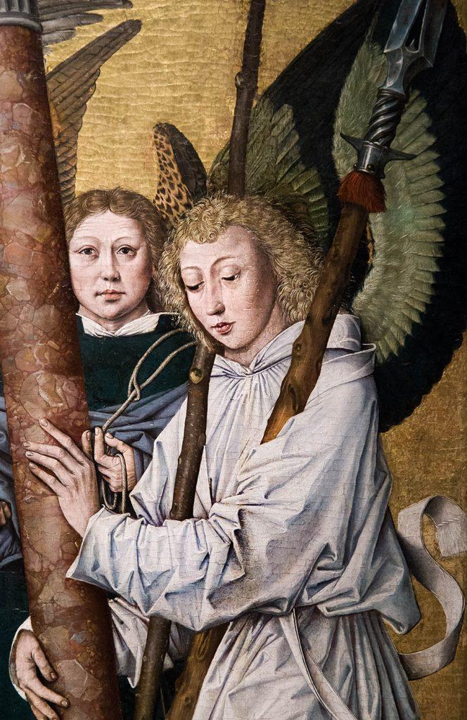Fabian Fröhlich, Ausstellung Spätgotik, Gemäldegalerie Berlin, Süddeutscher meister, Gnadenstuhl, Engel