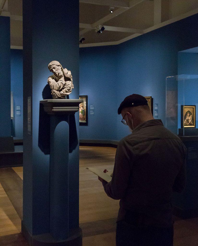 Fabian Fröhlich, Ausstellung Spätgotik, Gemäldegalerie Berlin, Niclaus Gerhaert von Leyden, Büste eines Mannes