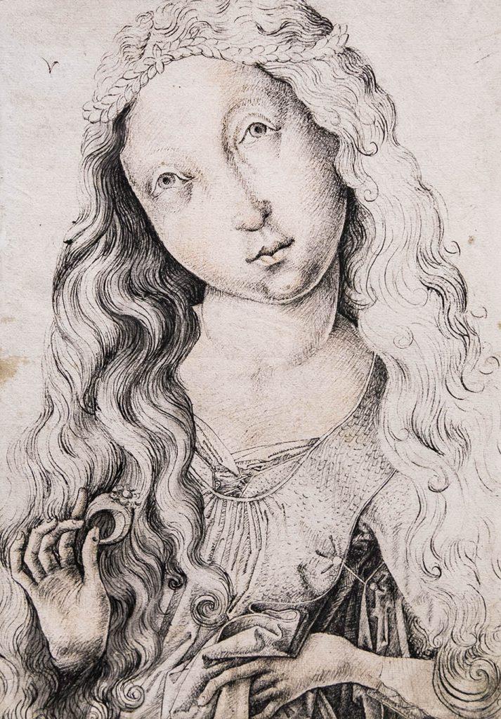 Fabian Fröhlich, Ausstellung Spätgotik, Gemäldegalerie Berlin, Meister E.S. (?), Brustbild eines Mädchens
