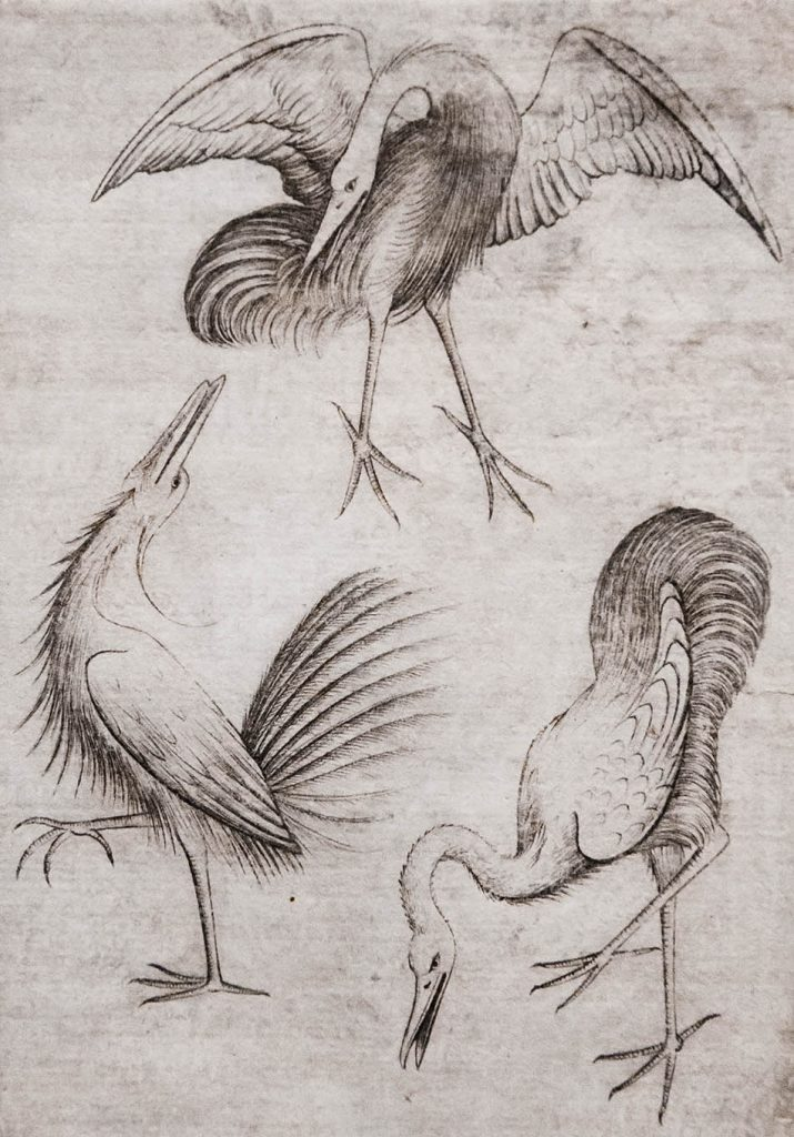 Fabian Fröhlich, Ausstellung Spätgotik, Gemäldegalerie Berlin, Meister der Spielkarten, Vogel-Drei