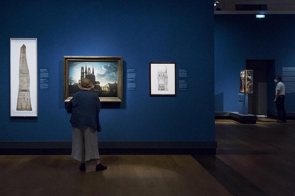 Fabian Fröhlich, Ausstellung Spätgotik, Gemäldegalerie Berlin, Schinkel, Gotischer Dom am Wasser