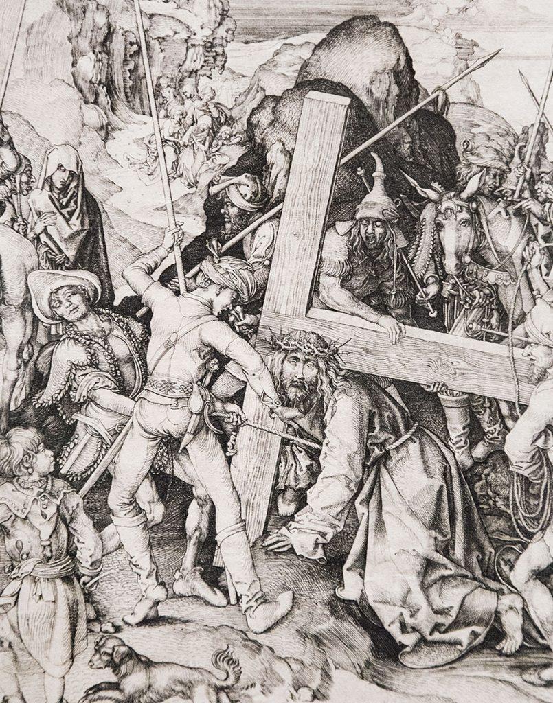Fabian Fröhlich, Ausstellung Spätgotik, Gemäldegalerie Berlin, Martin Schongauer, Die Große Kreuztragung