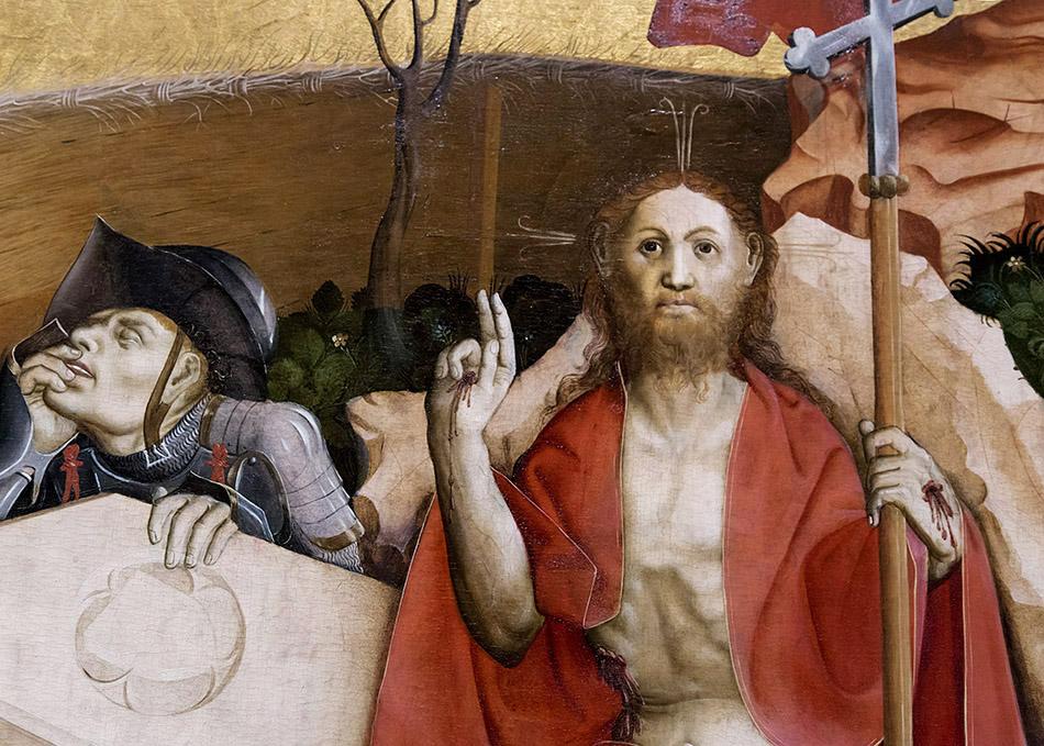 Fabian Fröhlich, Ausstellung Spätgotik, Gemäldegalerie Berlin, Hans Multscher, Wurzacher Altar, Auferstehung