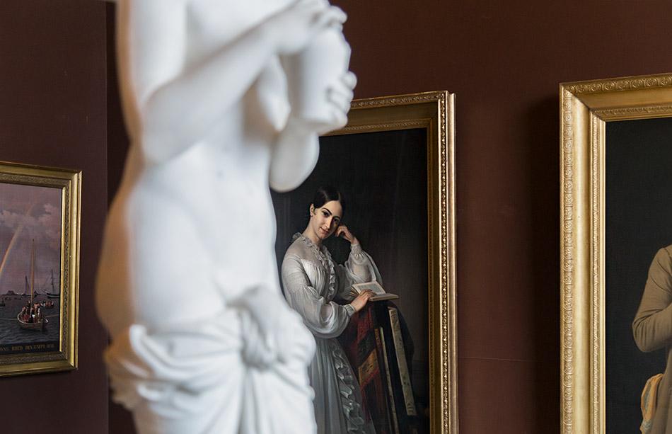 Fabian Fröhlich, Kopenhagen, Thorwaldsens Museum, Bertel Thorvaldsen, Psyche; Emil Baerentzen, Portrait Johanne Luise Heiberg